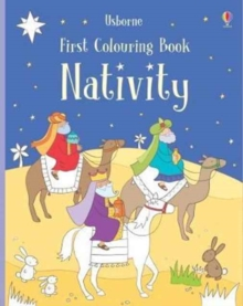 First Colouring Book Nativity, Paperback Book