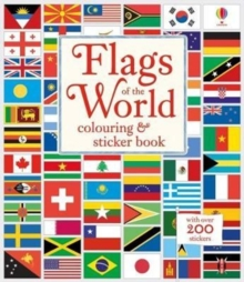 Flags of the World Colouring & Sticker Book, Paperback Book