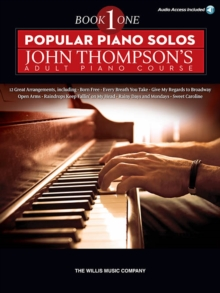 Popular Piano Solos : John Thompson's Adult Piano Course - Book 1 (Book/Online Audio), Paperback Book