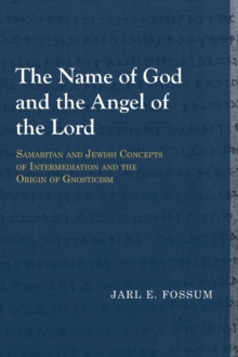 The Name of God and the Angel of the Lord : Samaritan and Jewish Concepts of Intermediation and the Origin of Gnosticism, Paperback / softback Book