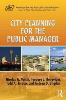 City Planning for the Public Manager, Hardback Book