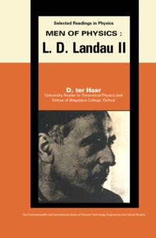 Men of Physics: L.D. Landau : Thermodynamics, Plasma Physics and Quantum Mechanics, PDF eBook