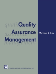 Quality Assurance Management, PDF eBook