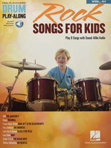 Drum Play-Along Volume 41 : Rock Songs For Kids (Book/Online Audio), Paperback / softback Book