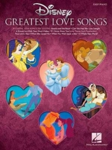 Disney's Greatest Love Songs (Easy Piano Book), Paperback Book