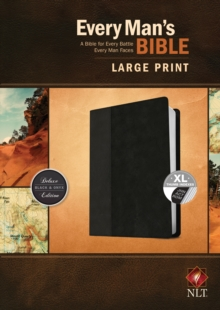 Every Man's Bible NLT, Large Print, TuTone, Leather / fine binding Book