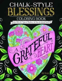 Chalk Style Blessings Coloring Book, Paperback Book