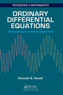 Ordinary Differential Equations : An Introduction to the Fundamentals, Hardback Book