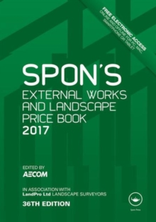 Spon's External Works and Landscape Price Book 2017, Hardback Book
