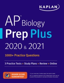 AP Biology Prep Plus 2020 & 2021 : 3 Practice Tests + Study Plans + Review + Online, EPUB eBook