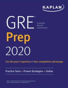 GRE Prep 2020 : Practice Tests + Proven Strategies + Online, EPUB eBook