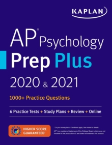 AP Psychology Prep Plus 2020 & 2021 : 6 Practice Tests + Study Plans + Targeted Review & Practice + Online, EPUB eBook