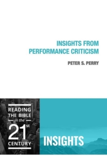Insights from Performance Criticism, Paperback Book