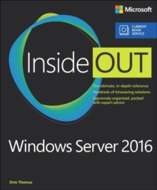 Windows Server 2016 Inside Out (includes Current Book Service), Paperback / softback Book