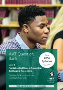 Aat Bookkeeping Transactions : Question Bank, Paperback Book
