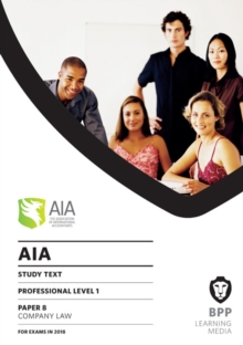 AIA 8 Company Law : Study Text, Paperback Book