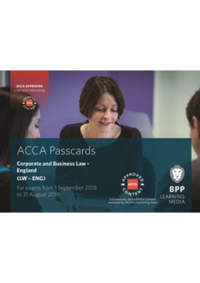 ACCA Corporate and Business Law (English) : Passcards, Spiral bound Book