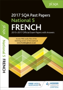 National 5 French 2017-18 Sqa Past Papers with Answer, Paperback Book