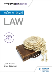 My Revision Notes: AQA A-level Law, Paperback / softback Book