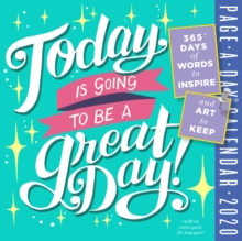 2020 Today is Going to be a Great Day! Colour Page-A-Day Calendar, Calendar Book