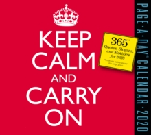 2020 Keep Calm and Carry on Page-A-Day Calendar, Calendar Book