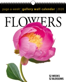2020 Flowers Page-A-Week Gallery Wall Calendar, Calendar Book