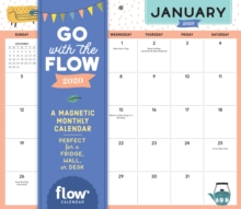 Go with the Flow Desk Calendar 2020 : A Magnetic Monthly Calendar Perfect for a Fridge, Wall, or Desk, Calendar Book