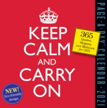 Keep Calm and Carry on Page-A-Day Calendar 2021, Calendar Book