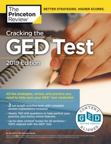 Cracking The Ged Test With 2 Practice Exams, 2019 Edition, Paperback Book