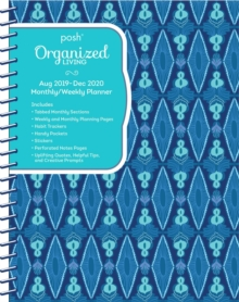 Posh: Organized Living Blue Lagoon 2019-2020 Monthly/Weekly Diary Planner, Diary Book