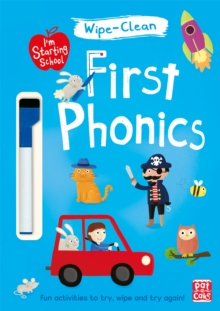 I'm Starting School: First Phonics : Wipe-clean book with pen, Paperback Book