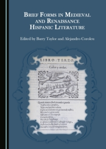 None Brief Forms in Medieval and Renaissance Hispanic Literature, PDF eBook