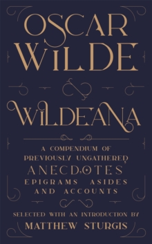 Wildeana (riverrun editions), Hardback Book