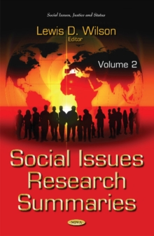 Social Issues Research Summaries (with Biographical Sketches) : Volume 2, Hardback Book