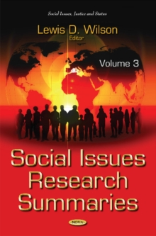 Social Issues Research Summaries (with Biographical Sketches) : Volume 3, Hardback Book
