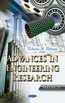 Advances in Engineering Research : Volume 23, Hardback Book