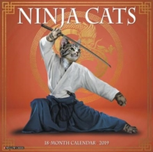 Ninja Cats 2019 Wall Calendar, Calendar Book