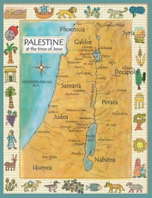 Palestine in the Time of Jesus Map, Poster Book
