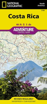 Costa Rica : Travel Maps International Adventure Map, Sheet map, folded Book