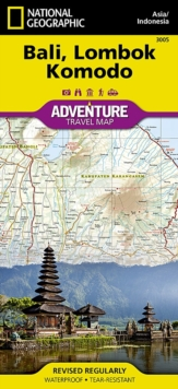 Bali, Lombok, and Komodo : Travel Maps International Adventure Map, Sheet map, folded Book