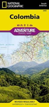 Colombia : Travel Maps International Adventure Map, Sheet map, folded Book