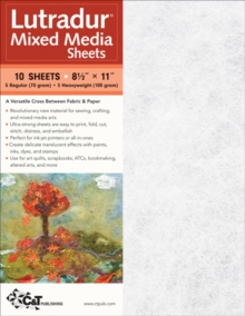 "Lutradur (R) Mixed Media Sheets : 10 Sheets, 8 1/2"" x 11"" * 5 Regular (70 Gram) * 5 Heavyweight (100 Gram), General merchandise Book"
