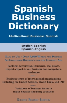 Spanish Business Dictionary : Multicultural Business Spanish, EPUB eBook