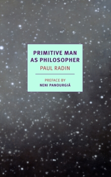 Primitive Man As Philosopher, Paperback / softback Book