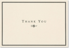 Thank You Notes Black/cream, Cards Book