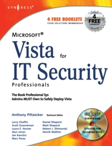 Microsoft Vista for IT Security Professionals, Paperback / softback Book
