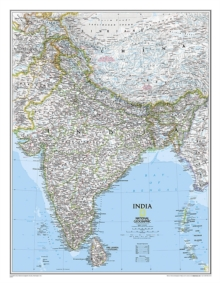 India Classic, Laminated : Wall Maps Countries & Regions, Sheet map Book