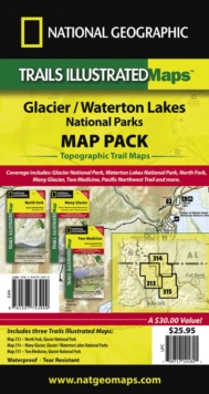 Glacier/waterton Lakes National Parks,map Pack Bundle : Trails Illustrated National Parks, Sheet map, folded Book