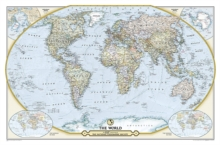 National Geographic Society 125th Anniversary World Map Tubed : Wall Maps Countries & Regions, Sheet map, rolled Book
