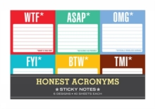 Knock Knock Honest Acronyms Sticky Note Packet, Stickers Book